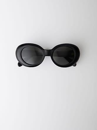 Acne Studios Mustang Black Oval acetate sunglasses