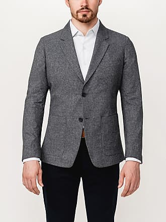 Ministry of Supply Mens Grey Stretchy Wrinkle Free and Water Repellent Kinetic Blazer XXL