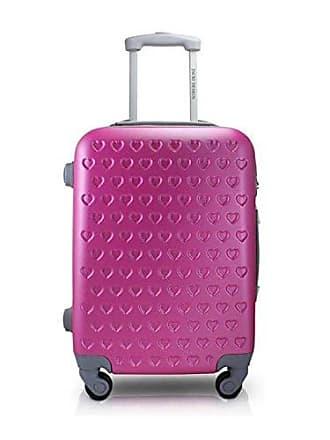 Jacki Design Mala De Viagem Grande Rigida Resistente Com Rodinha Giro 360 Alça Ajustável Pink Jacki Design Love