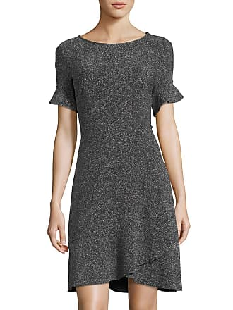 5twelve Double-Ruffle Short-Sleeve Glitter A-Line Dress