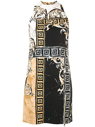 b4cd5de0e801 Versace Collection Marble Baroque print dress - Black
