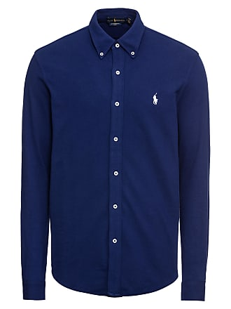 e0f35feb17f0 Ralph Lauren Overhemd FEATHERWEIGHT MESH-LSL-KNT royal blue koningsblauw