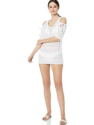 63806b3ad5b Anne Cole Womens Crochet Off The Shoulder Tunic Cover Up, in First lace  Solid White