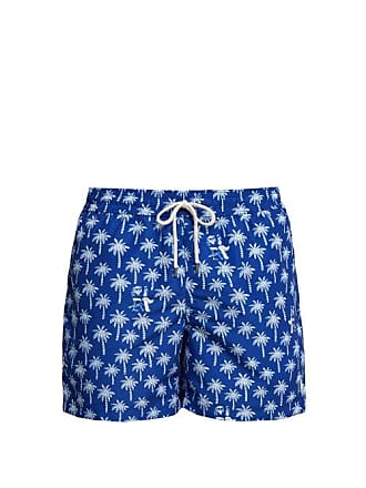 46325d35b5 Polo Ralph Lauren Palm Tree And Bear Print Swim Shorts - Mens - Blue Multi