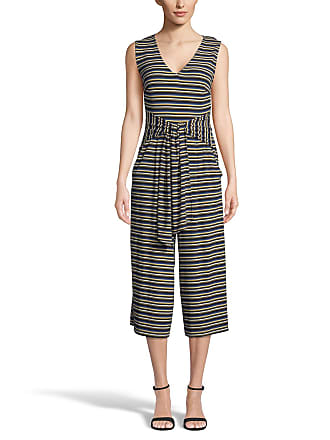 5twelve Striped Tie-Front Sleeveless Cropped Jumpsuit