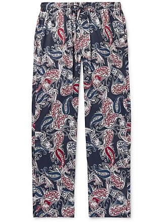 Zimmerli Paisley-print Cotton Pyjama Trousers - Navy