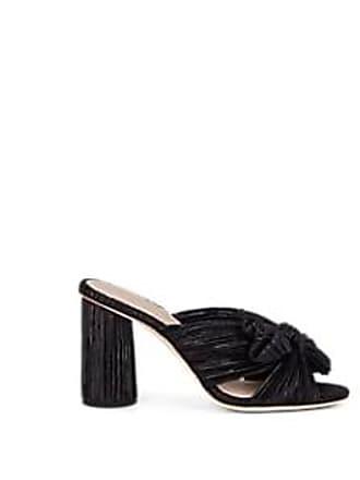 59ce7c0768ea Loeffler Randall Womens Penny Pleated Lamé Mules - Black Size 9