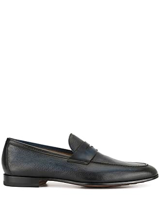 Magnanni painted penny loafers - Blue