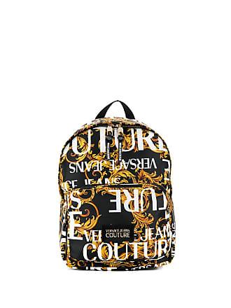 Versace Jeans Couture Mochila com estampa de logo - Amarelo