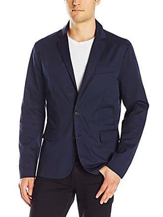 A|X Armani Exchange Mens Classic Woven Blazer, Navy, 44