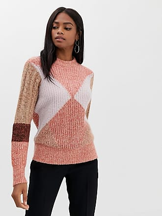 Y.A.S color block knit sweater - Pink