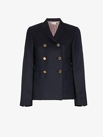 Thom Browne gold button silk lined blazer