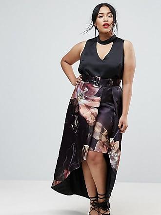 4e1f2e881d80 Coast Plus Coast Curve Red Carpet Maddy printed skirt - Black