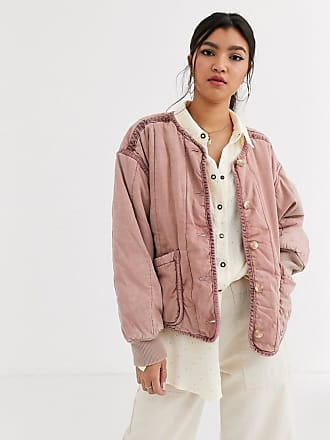 Free People Mixed Signals liner jacket-Pink