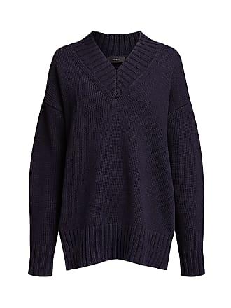 Joseph Sloppy Joe V-neck Sweater Navy