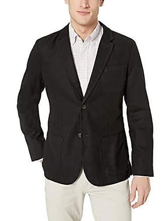 Goodthreads Mens Slim-Fit Linen Blazer, Black, Medium Tall