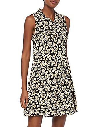 12188fc27 New Look Michael Daisy Shirt Vestido, Negro (Black Pattern 9), 36 (
