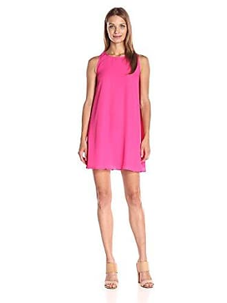 Lucca Couture Womens Sleeveless Swing Dress, Fuchsia Large