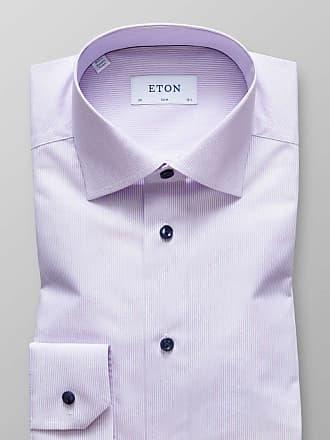 Eton Slim Fit Hemd rosa/weiss, Feinstreifen