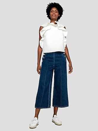 1d338a1abf73 Msgm pantalone flare con abbottonatura mariniere