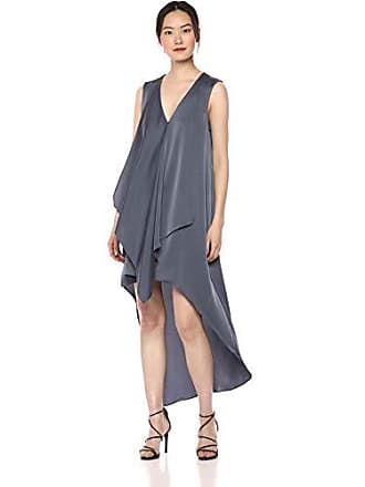 Bcbgmaxazria BCBGMax Azria Womens Asymmetrical High-Low Ruffle Dress, Bluestone S