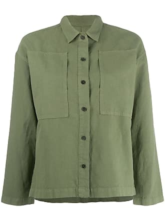 Ymc You Must Create patch detail shirt jacket - Green