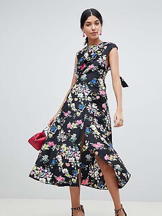 5bf7c26d405 Asos Tall ASOS DESIGN Tall Drape Midi Dress In Floral Print