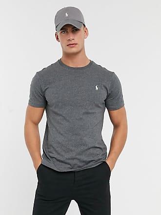 Polo Ralph Lauren T-shirt grigia con logo-Grigio