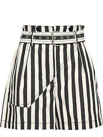 3.1 Phillip Lim 3.1 Phillip Lim Woman Belted Striped Cotton-canvas Shorts Cream Size 10