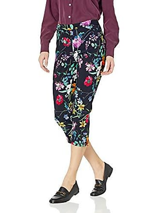 Tribal Womens Printed Floral Pull On Capri, Pink, 4