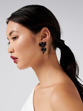 Forever New Zena Marquis Fan Drop Earrings - Black. - 00