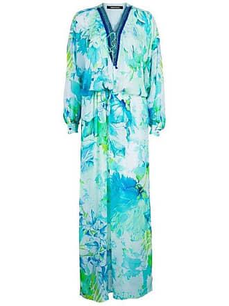 a5bf6fd1787 Roberto Cavalli Tropical Print Embellished Kaftan Dress S