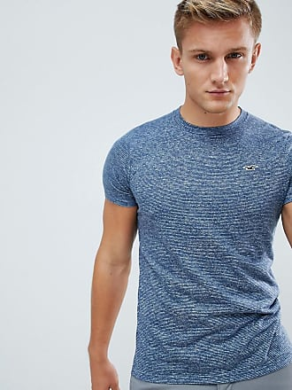 e9bd59f08931 Hollister muscle fit icon logo t-shirt in navy marl - Navy
