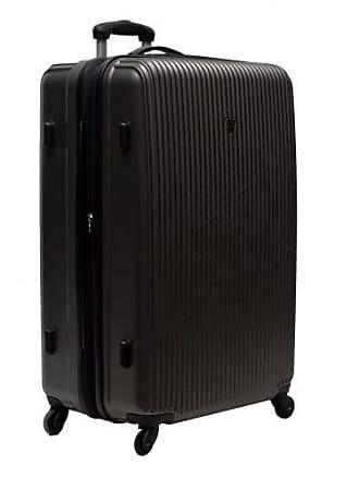 Yin's Mala de Viagem Pequena ABS com Carrinho 360º Preta YS1004P-P