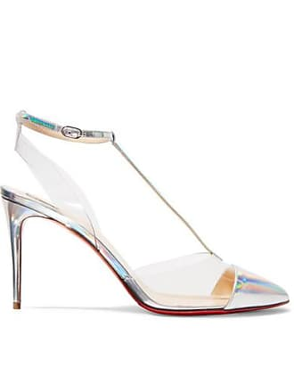 c684d81fc05b Christian Louboutin Nosy 85 Patent-leather And Pvc Pumps - Metallic