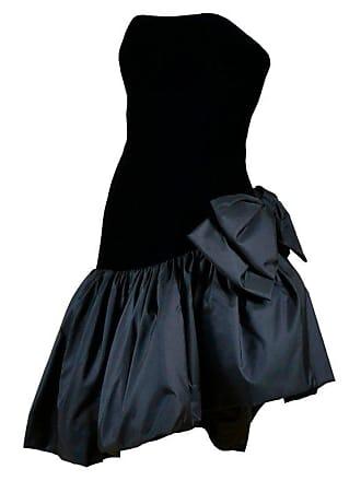 ca57bc671b2 Victor Costa 1980s Victor Costa Vintage Strapless Velvet   Taffeta Black  Dress