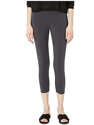 Eileen Fisher Lightweight Cotton Stretch Jersey Cropped Leggings (Graphite) Womens Casual Pants