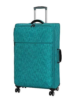 IT Luggage 30.5 Stitched Squares Lightweight Case, Aqua Blue