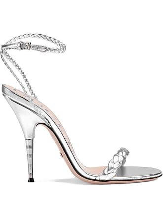 963ac62f12d Gucci Braided metallic leather sandals