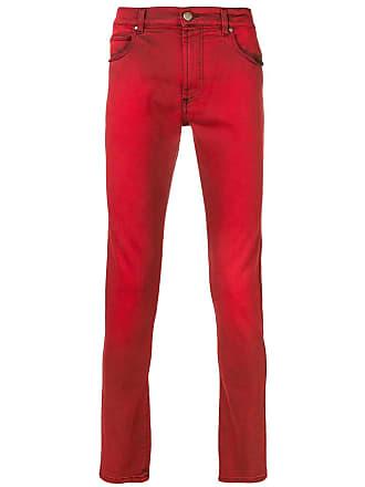 Paura Calça jeans skinny cintura baixa - Vermelho