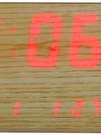 Uhren Herweg Relogio de Parede Digital Herweg Estilo Madeira 6491-296