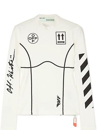 Off-white Printed Stretch-jersey Top