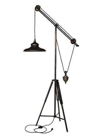A & B Home AB Home Industrial Pully Tripod Floor Lamp