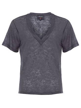 J. Chermann T-shirt Maxi Decote J. Chermann - Cinza