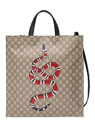 df4e22ab0560 Gucci Kingsnake print soft GG Supreme tote - Neutrals