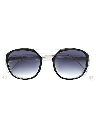Emmanuelle Khanh round frame sunglasses - Preto
