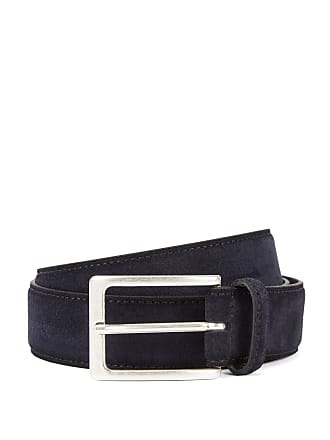 BOSS Suede belt with antique-effect buckle