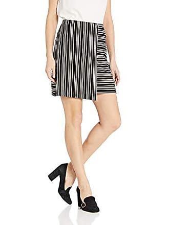 155fb29251 Paris Sunday Womens Wrap Ribbed Skirt, -black/White, Large