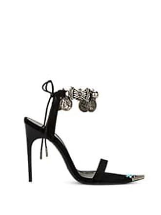 922bcbb7a834 Saint Laurent Womens Suede Ankle-Strap Sandals - Black Size 7