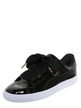 4ba2d2e16de Puma Sneakers laag Basket Heart Patent zwart